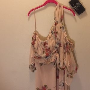 ASOS Pink Dress Floral Size 20 NWT